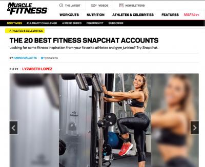 Best Fitness Snapchat Accounts