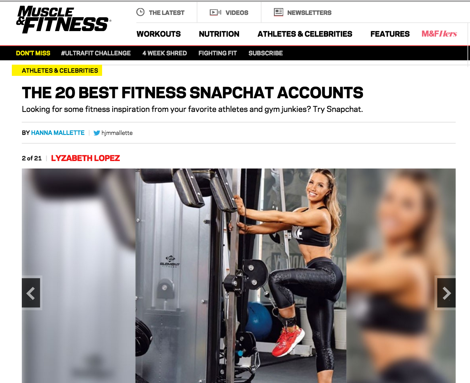 Best Fitness Snapchat Accounts