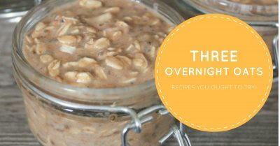 three vegan overnight oat recipes